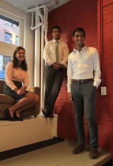 Ministry of Supply cofounders (from left) Kit Hickey, Aman Advani, and Gihan Amarasiriwardena.